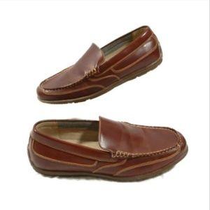 Nunn Bush Brown Moc Toe Loafers Shoes Memory Foam